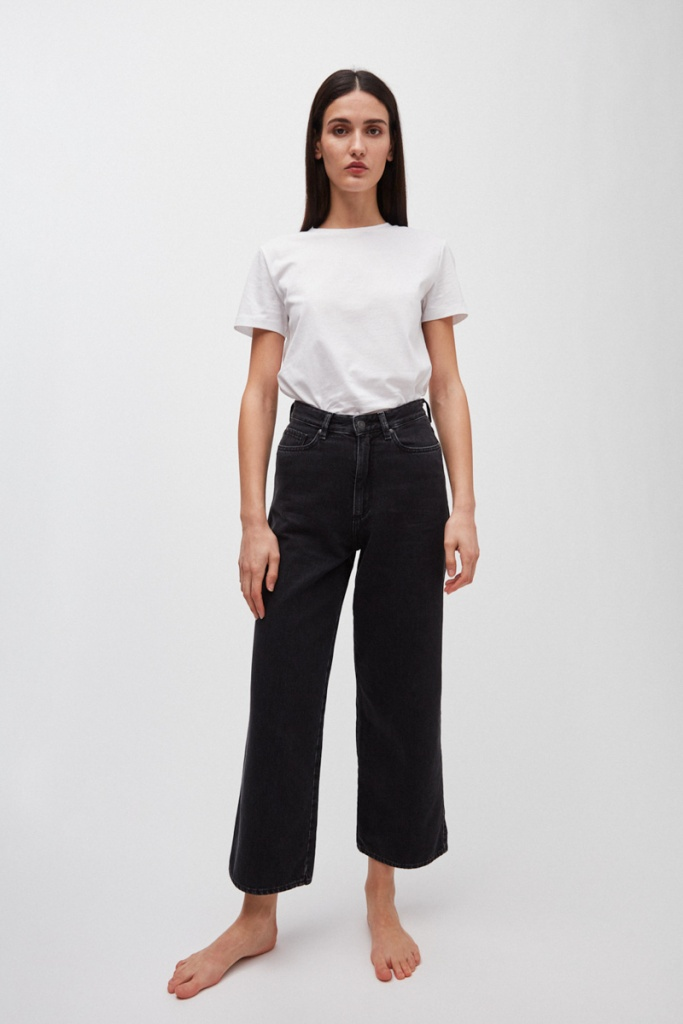 Nessaa Cropped - Black/Grey