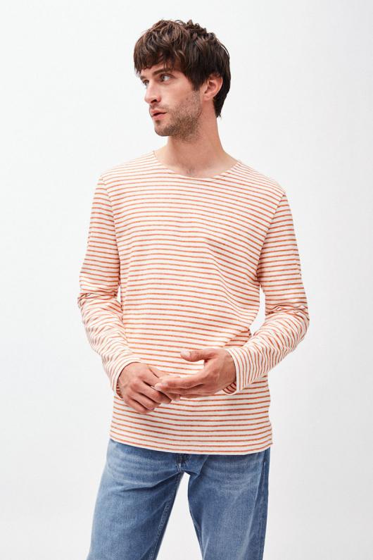 Jaardy Stripes - Off White/Orange - M