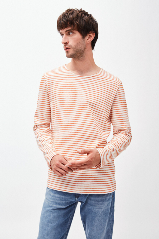 Jaardy Stripes - Off White/Orange - S