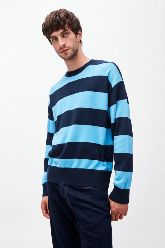 Steraa Stripes - Heritage Blue/Navy - XL