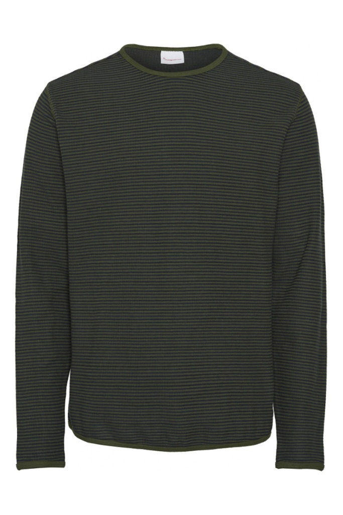 Striped Double Layer Sweat - Total Eclipse - L
