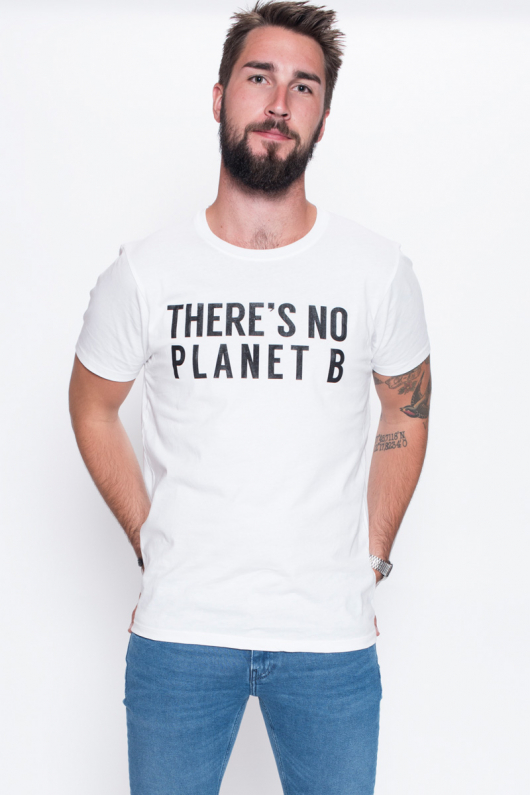 There's No Planet B Masculine Unisex - White - M