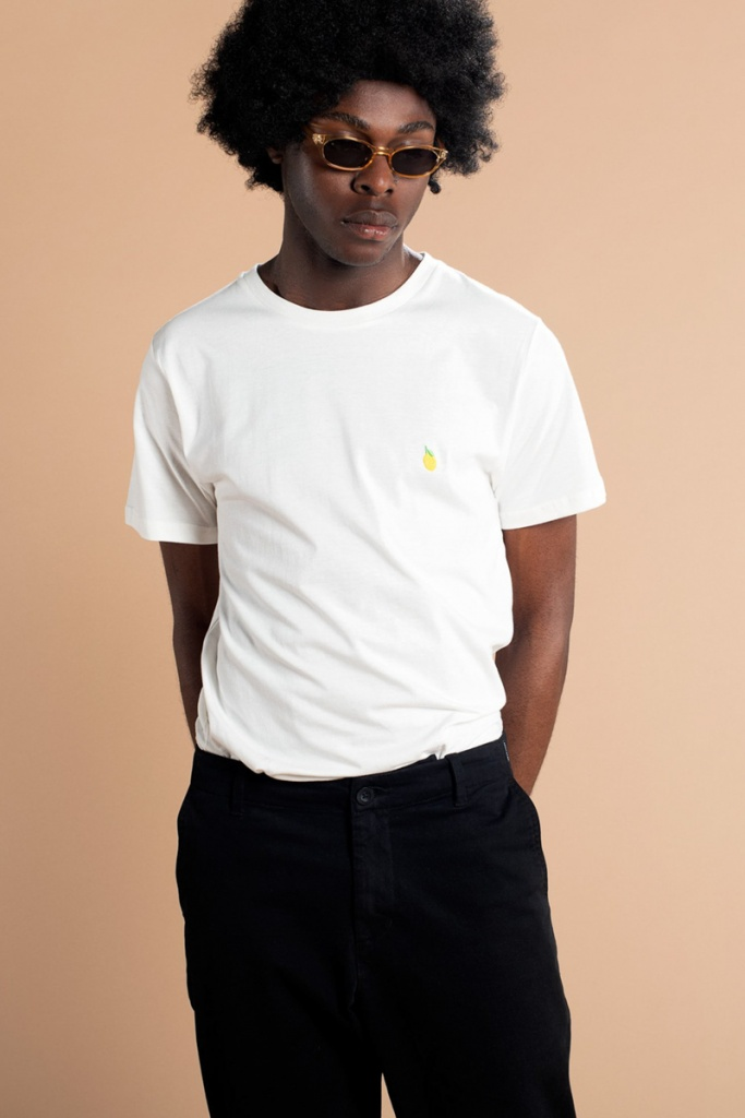 T-shirt Stockholm Lemon - Off White -XL