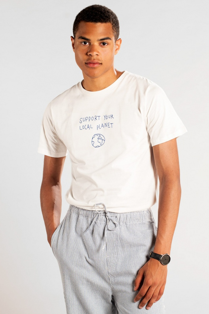 T-shirt Stockholm Local Planet - Off White - L