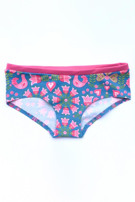 Hipster Panties - Turquoais Folk - L