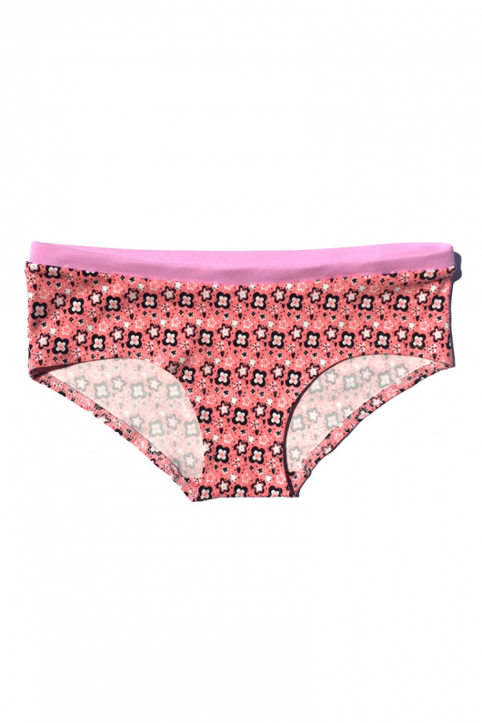 Hipster Panties - Pink Daisies - L