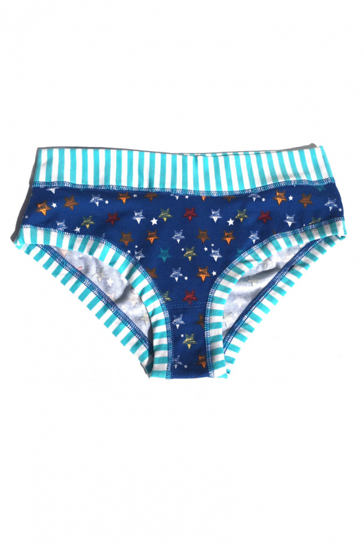 No Rubber Panties - Stripey Stars - L