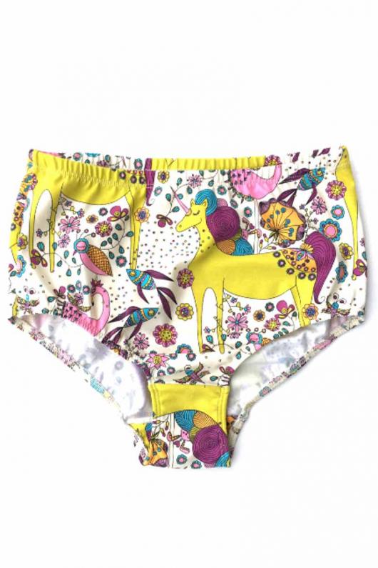High Waist Panties - Unicorn - L