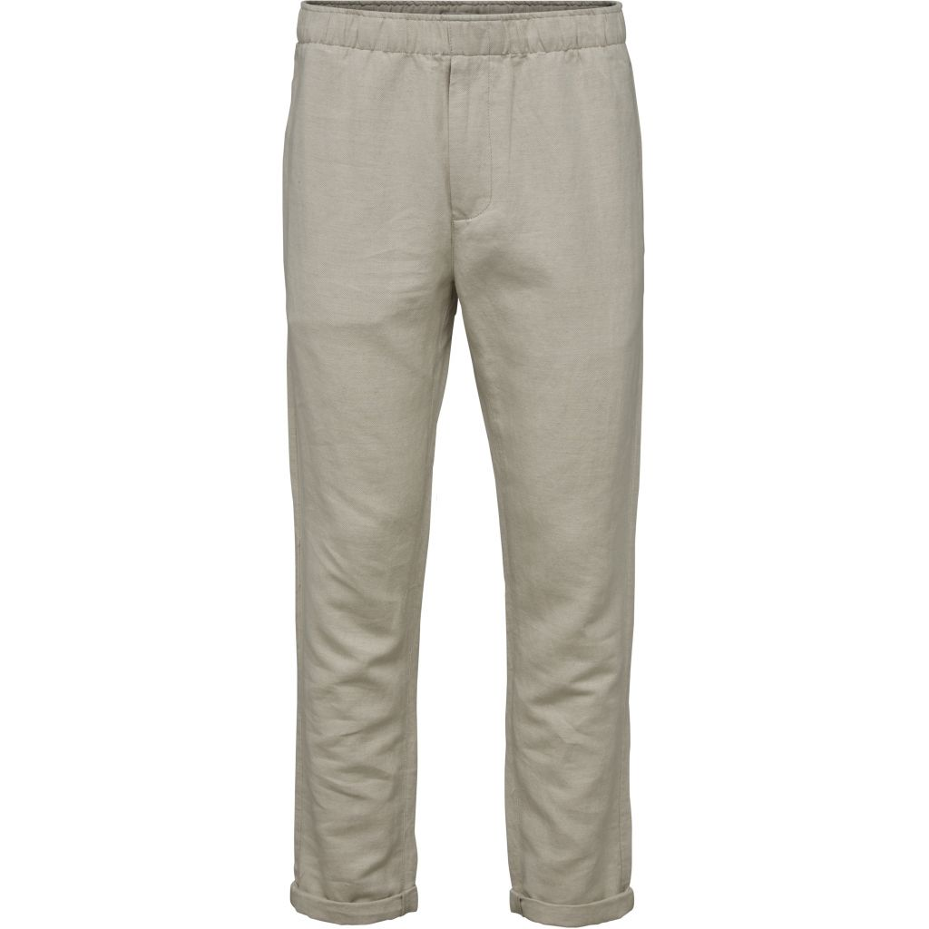Loose Pant w/ String Inside Waist - Feather Gray