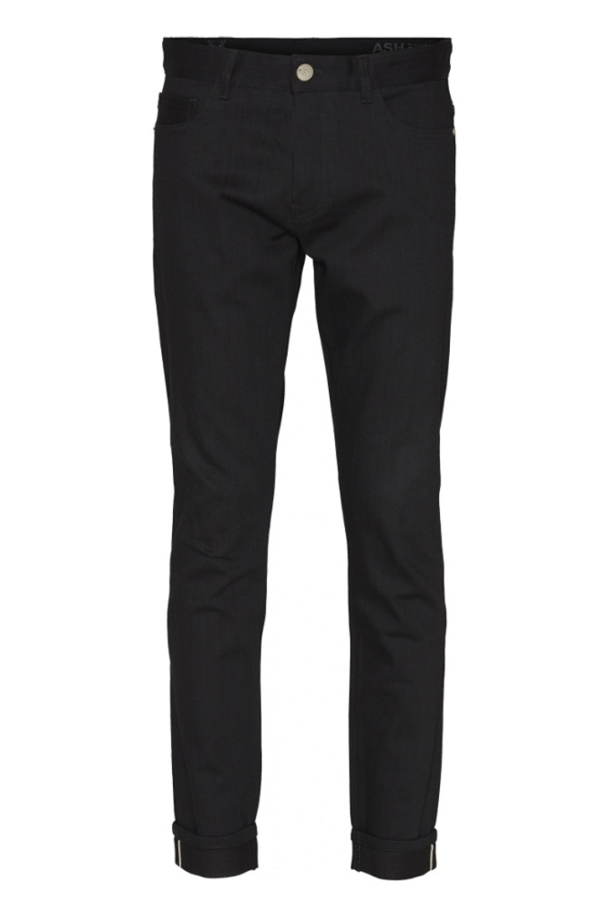 Ash Stretched Selvedge - Black Raw