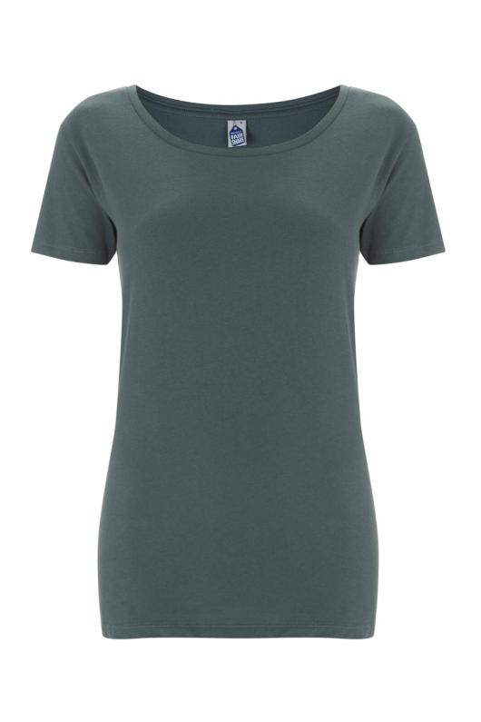 Basic Feminine T-shirt - Charcoal - L