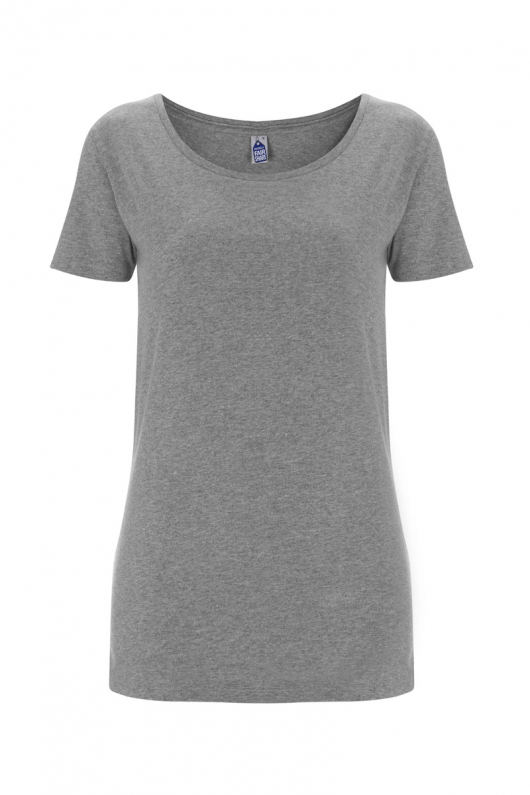 Basic Feminine T-shirt - Grey Melange - L