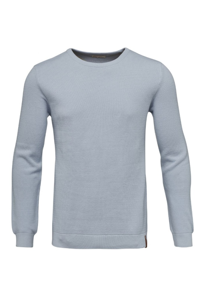 Pique Crew Neck Knit - Skyway - XL