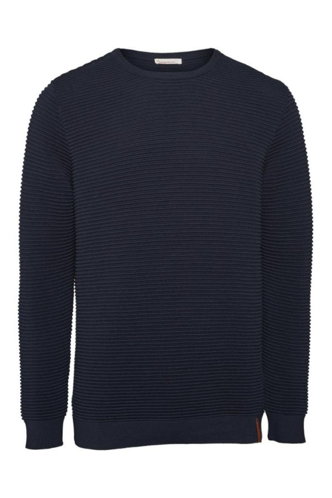 Wave O-neck Knit - Total Eclipse
