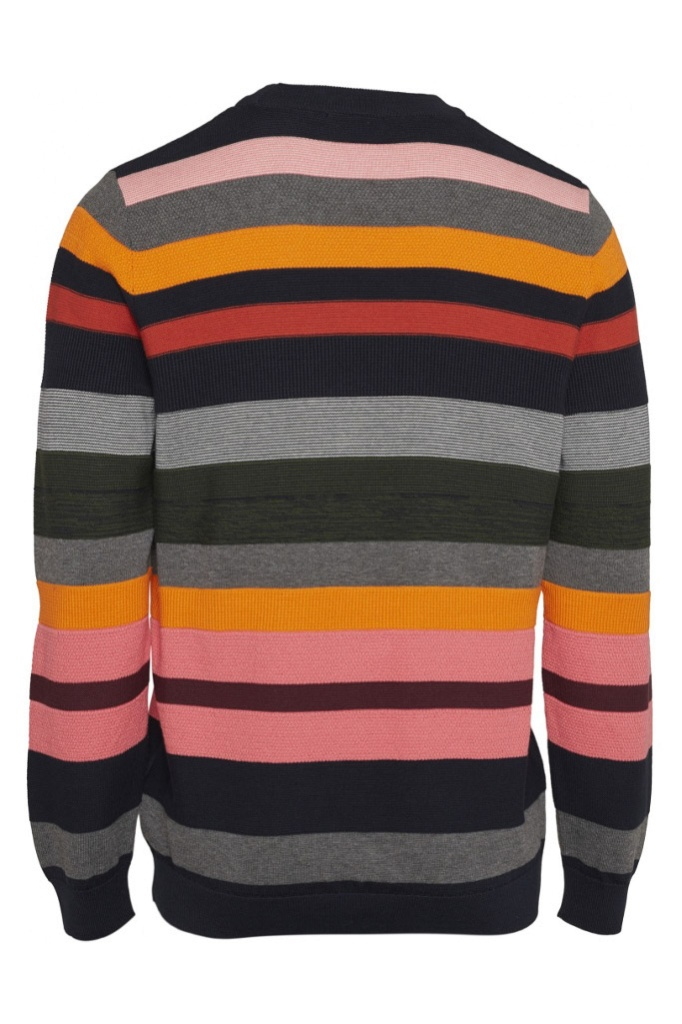 Striped O-Neck Knit