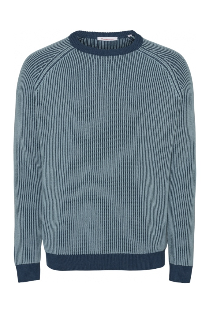 VALLEY striped knit - Moonlite Ocean - L
