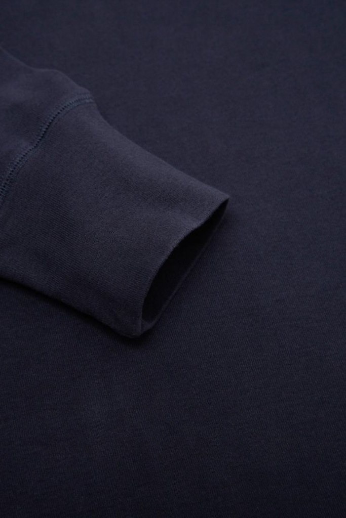 Long Sleeve Henley - Total Eclipse