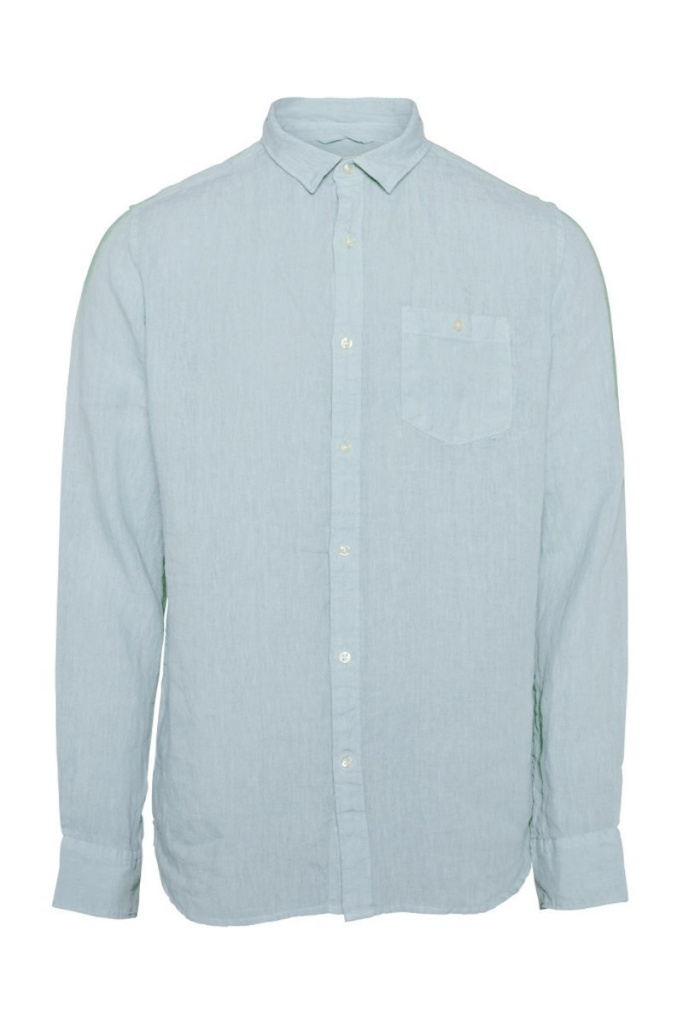 Fabric Dyed Linen Shirt - Skyway