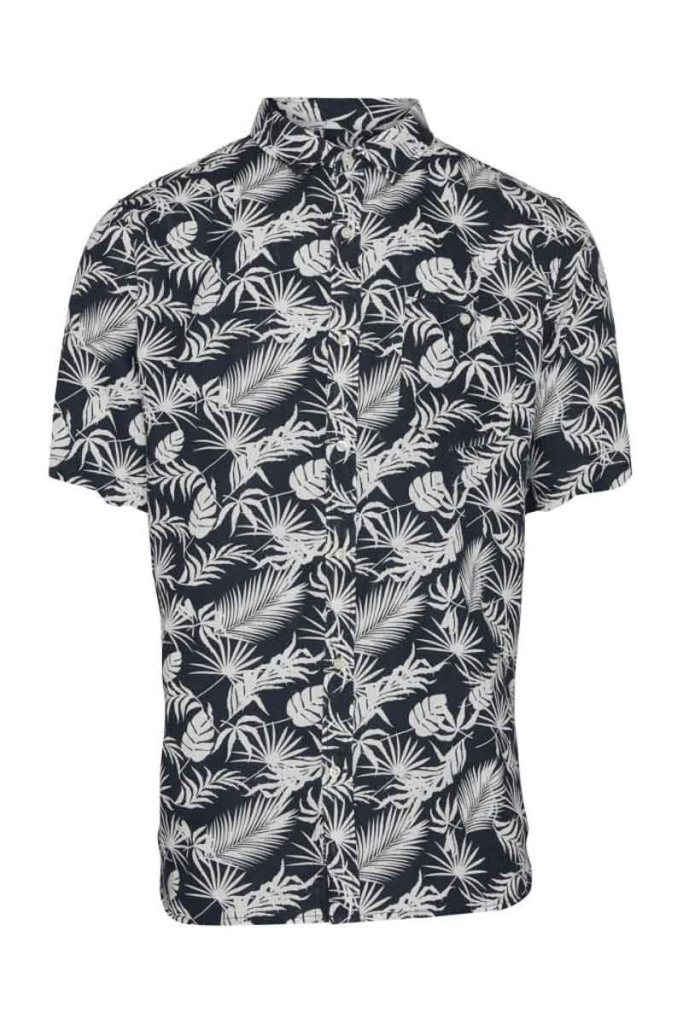Short Sleeve Shirt w/ All Over Print - Total Eclipse