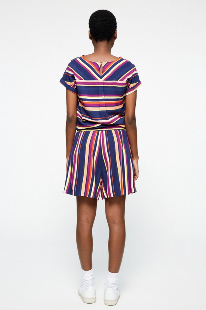 Aallegra Multicolor Stripes - Dark Navy/Carrot