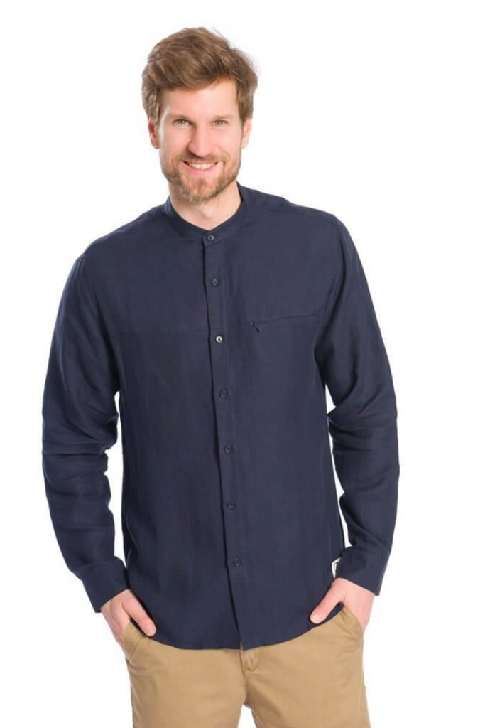Active TENCEL™ Linen Shirt - Dark Navy