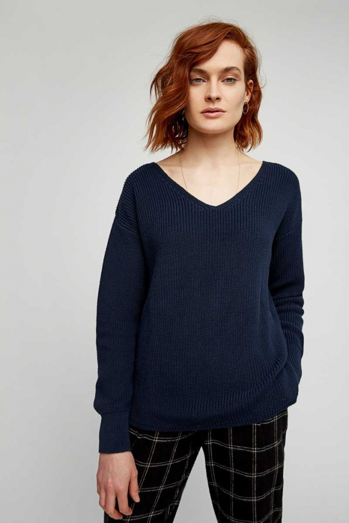 Antonia Rib Jumper - Navy