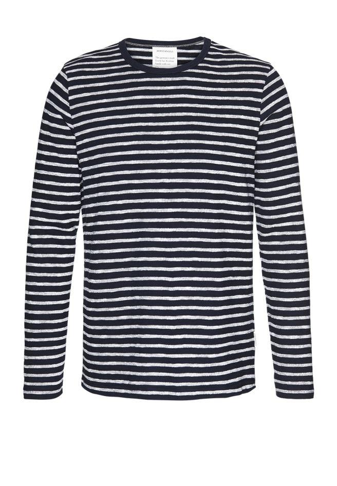 Serge Stripes - Navy/Off white