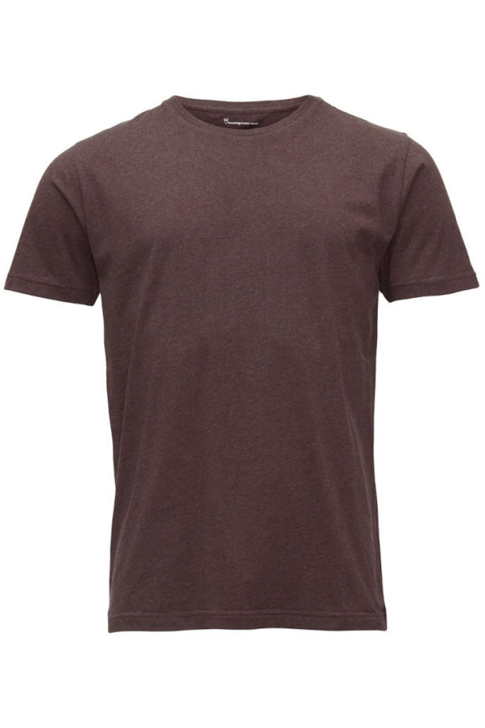 Basic Regular Fit O-Neck Tee - Choklade Melange