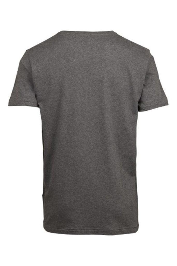 Basic Regular Fit O-Neck Tee - Dark Grey Melange