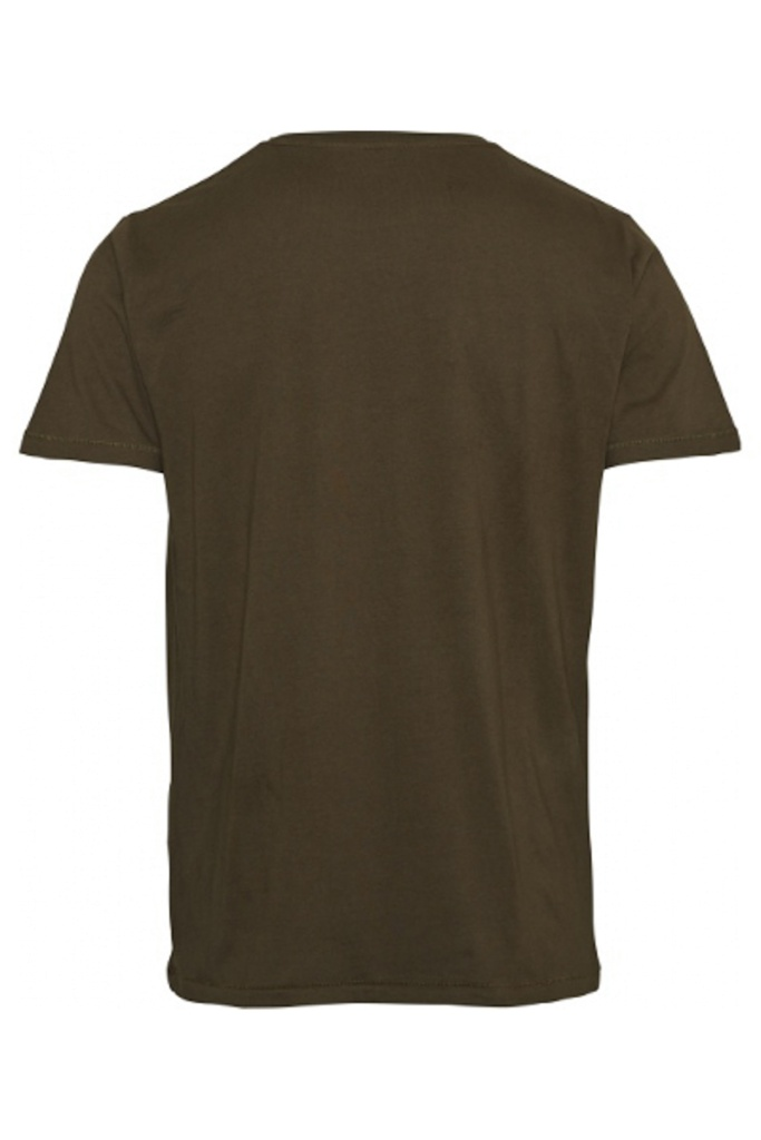 Basic Regular Fit O-Neck Tee - Forrest Night
