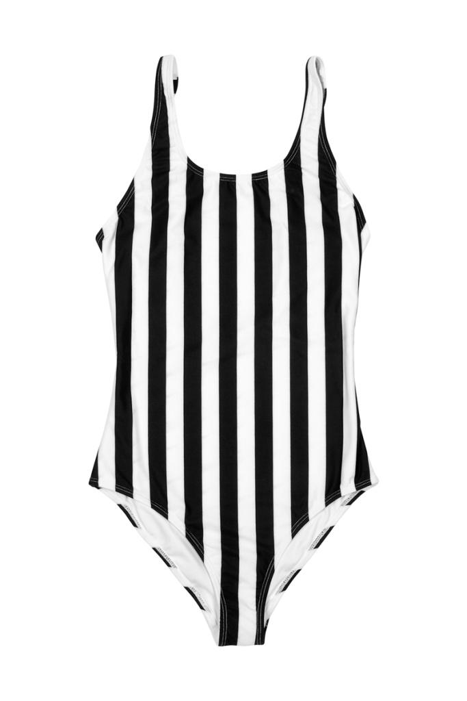 Swimsuit Rana Big Stripes - White