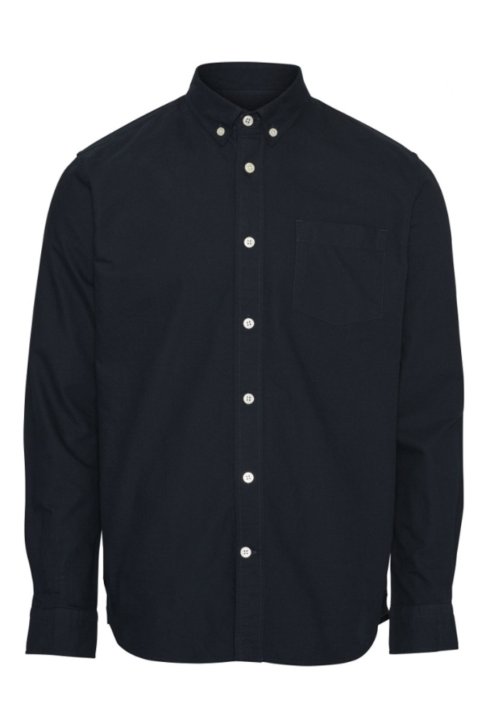 Button Down Oxford Shirt - Total Eclipse