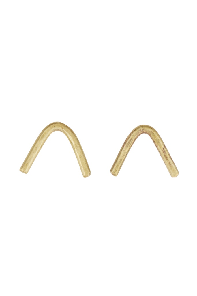 Chevron Earrings - Brass