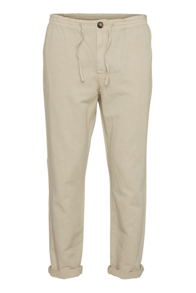 Chino Pants w/ Drawstring - Light Feather Grey
