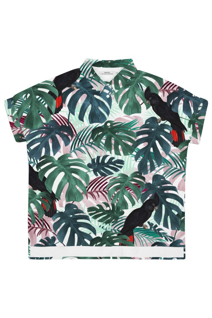Shirt Short Sleeve Nibe Color Leaves - Green