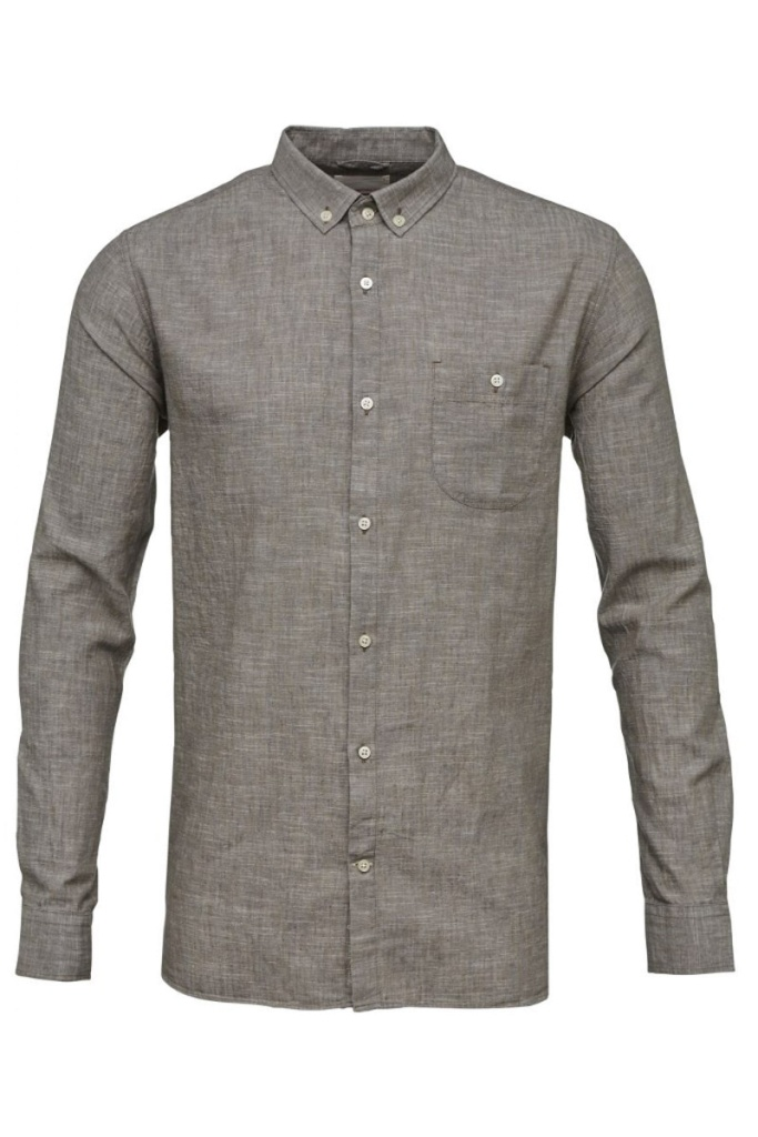 Cotton Linen Shirt - Feather Gray