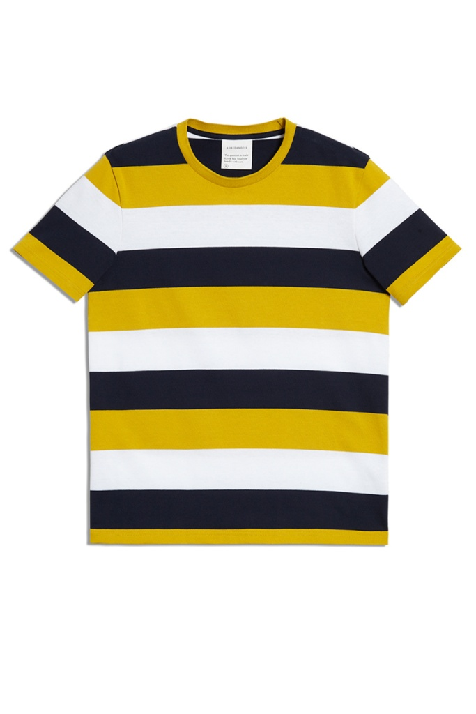 Daarian Block Stripe - Sulphur Yellow/Navy