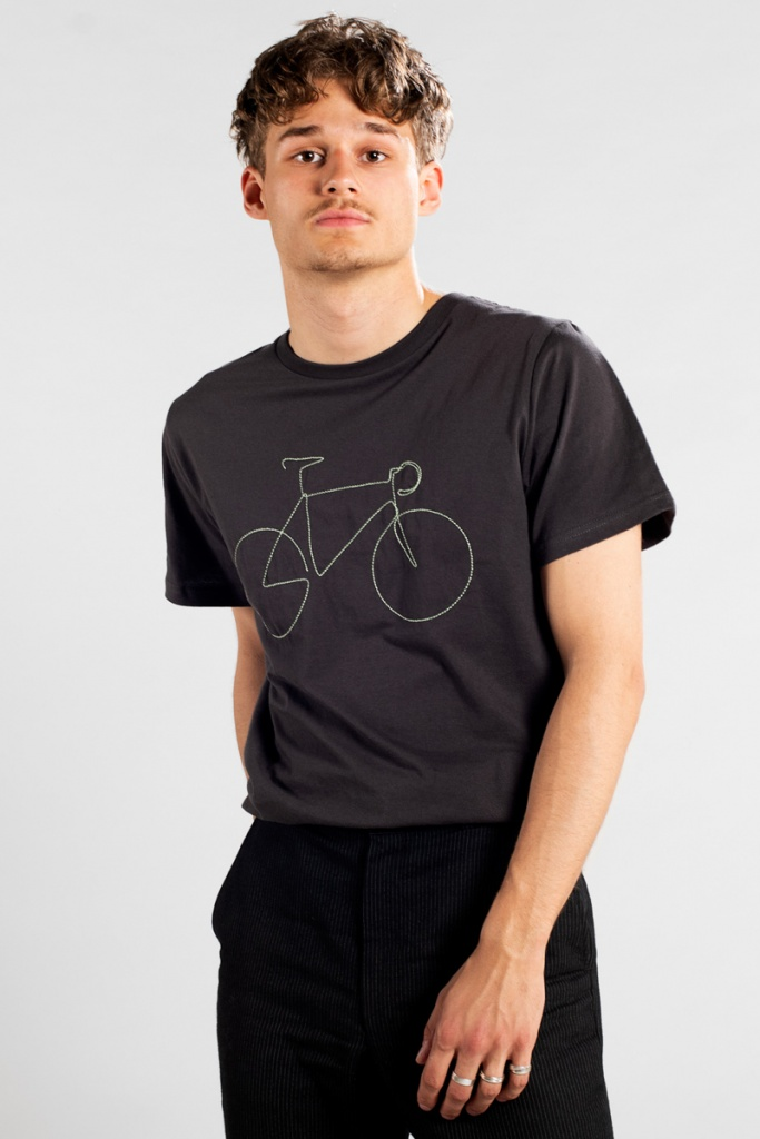 T-shirt Stockholm Bicycle - Charcoal - L