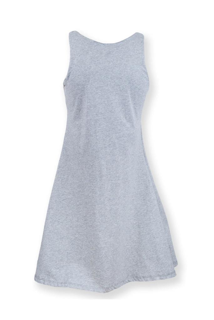 Swing Dress - Grey Melange - L