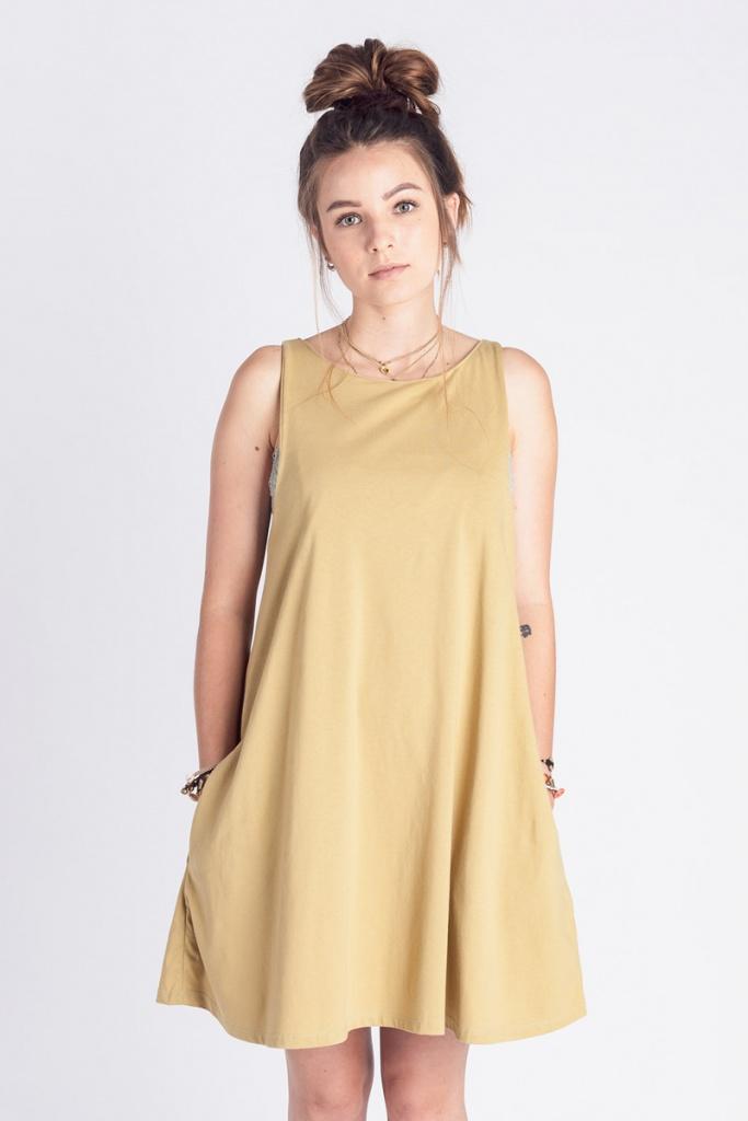 Swing Dress - Gold Hype - XS