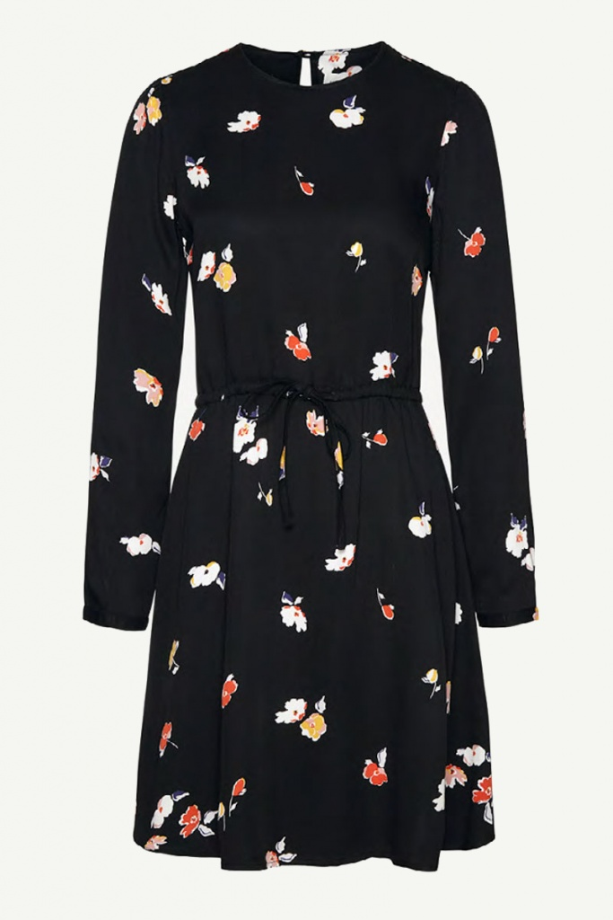 Derya Fall Flowers - Black
