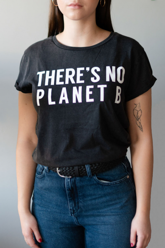 There's No Planet B Feminine - Vintage Black - L