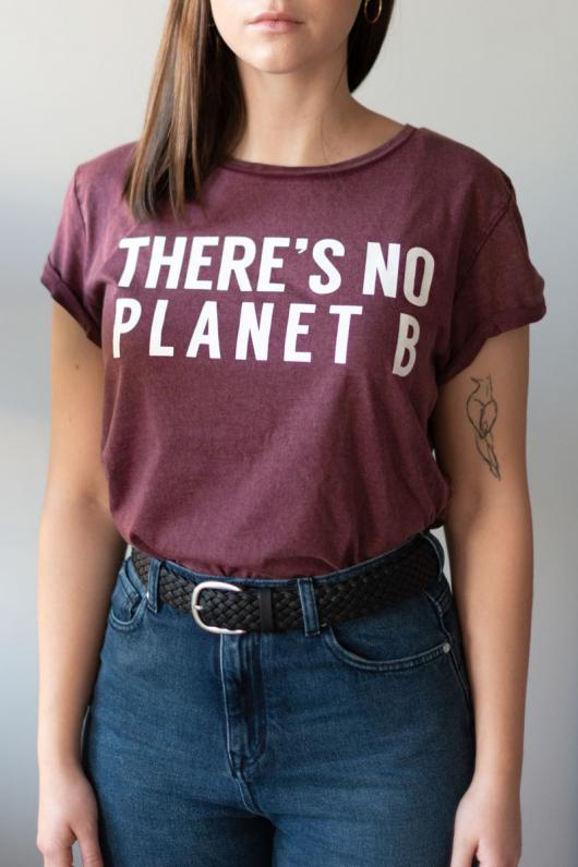 There's No Planet B Feminine - Vintage Burgundy - L