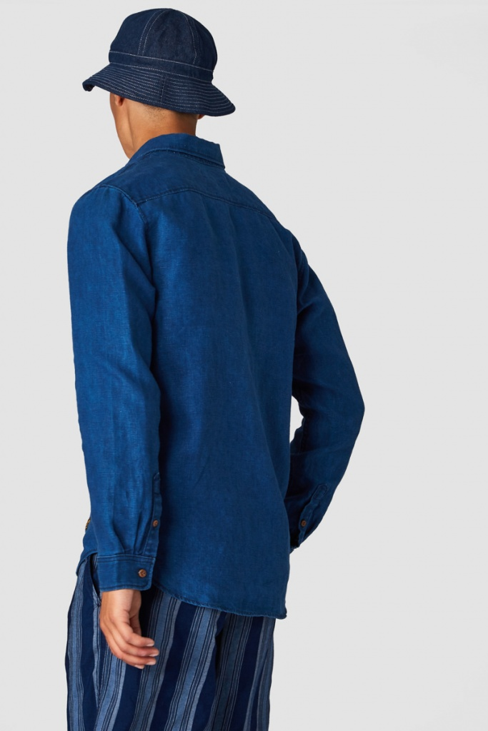Enda Pocket - Dark Indigo Linen