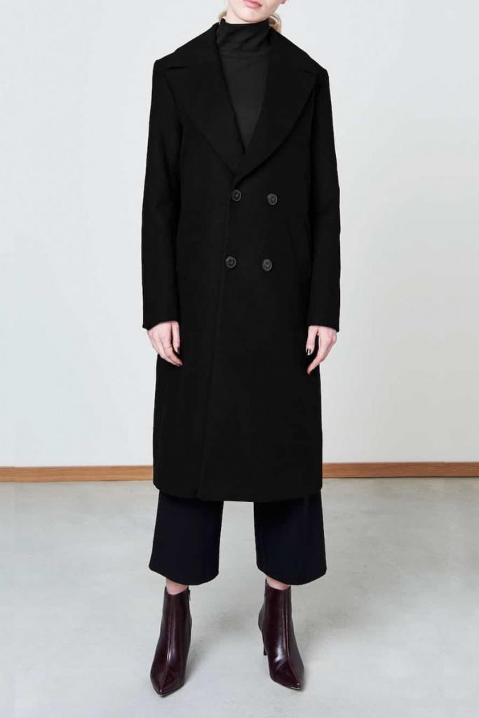Coat Europa Double - Black - XL