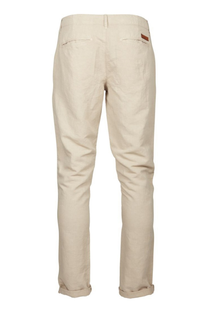 Garment Dyed Chino Pants - Light Feather Grey