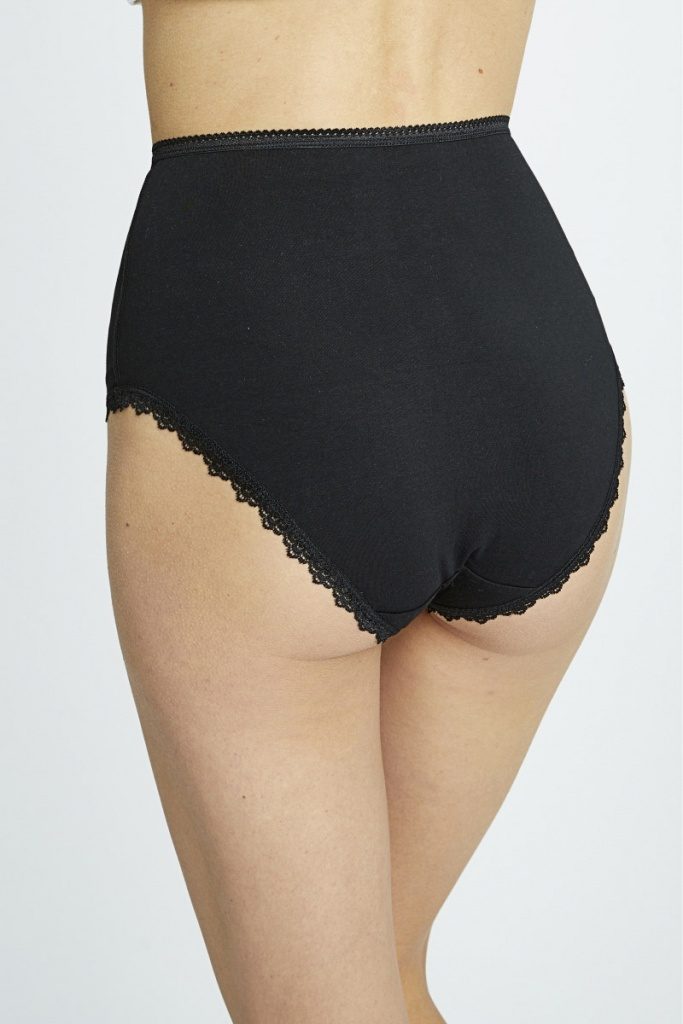 High Waist Briefs - Black