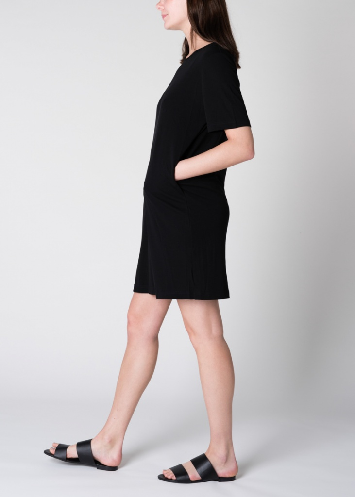 T-Shirt Dress Iris - Black