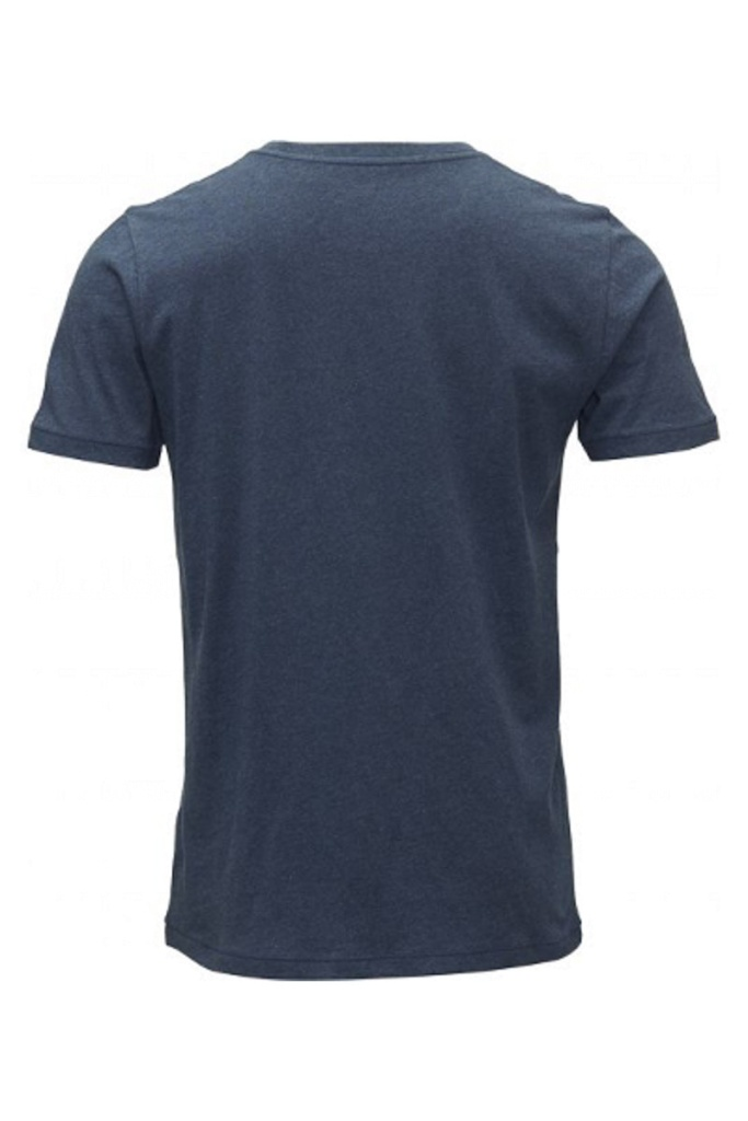 Basic Regular Fit O-Neck Tee - Insigna Blue Melange