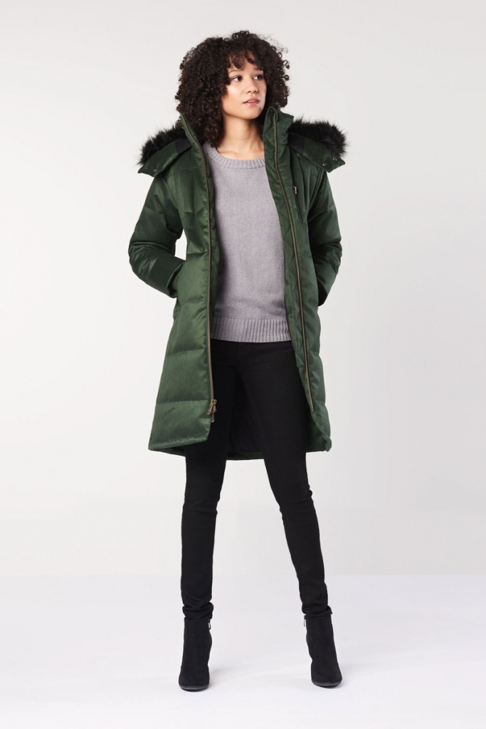 Ladies Nordic Puffer - Deep Army Green